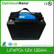 Rechargeable 12V 120ah LiFePO4 Battery for UPS
