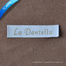 Logo de marque conçoit des étiquettes de vêtements pour l'étiquette principale / étiquette de cou