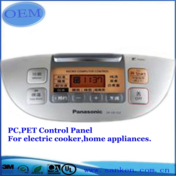 PC,PET control panel for electric cooker,home appliances00