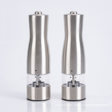 One touch stainless salt and pepper mill grinder