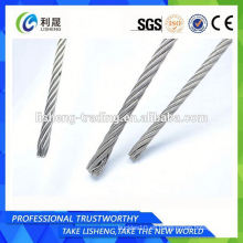Pequeña cuerda de alambre de acero inoxidable MOQ 6x7 + Iws