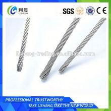 Petite corde à fil en acier inoxydable MOQ 6x7 + Iws