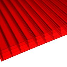Hoja de pared de policarbonato de 4 paredes rojas (disponible por OEM)