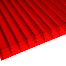 Red 4 Wall Polycarbonate Multiwall Sheet (OEM avaliable)