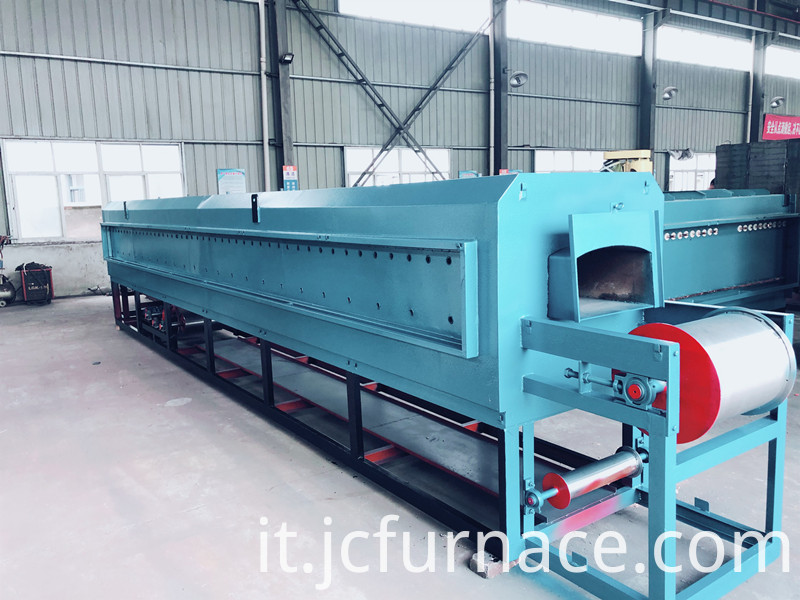 Net belt type hot air cycle tempering furnace complete