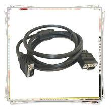 Câble VGA noir de 15 broches 1.5m CABLE M / M MALE à MALE ONE FERRIT CABLE
