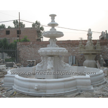 Fuente de mármol de piedra para la decoración al aire libre del jardín (SY-F353)