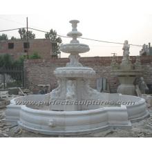 Fonte de mármore de pedra para decoração de jardim ao ar livre (SY-F353)