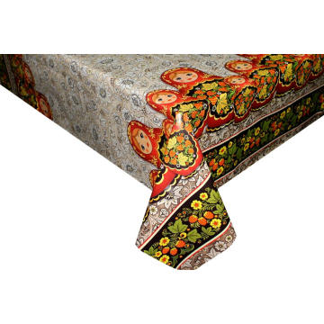 Pvc Printed elastic table covers round 60