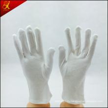 Женщины пользовательские белые хлопковые перчатки