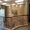 Conception de balustrade d'escalier en aluminium