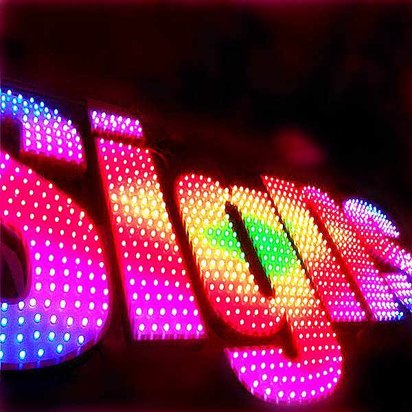 RGB face lit letter sign