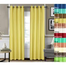 Faux Silk Window Curtain 100% Polyester