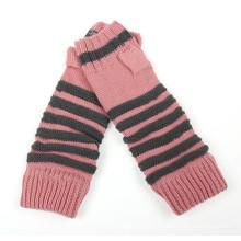 Senhora moda acrílico malha inverno luvas braço aquecedor (yky5450)