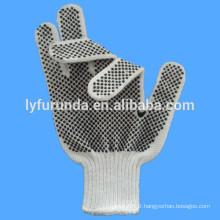 Gants en coton pointillé en PVC, recouverts de points en PVC sur 2 côtés
