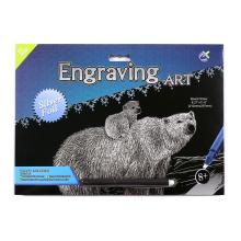 Urso Polar de prata Art suprimentos ofícios raspadinhas
