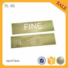 PL05 Fournir professionnellement imprimer étiquette de vêtements / étiquette d'impression de haine