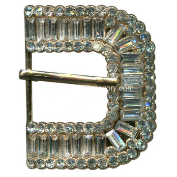 Pin Buckle, Rhinestone Pin Buckle, Crystal Stone Leather Buckle