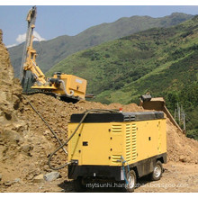 drilling rig with air compressor