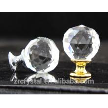 or et argent mélangé commode, armoire, tiroir et armoire verre boule de cristal poignée pull boutons poussoir en gros