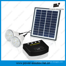 Rechargeble Solar System with 2 Bulbs&Mobile Phone Charger&4W Solar Panel&2W Solar Bulb for Indoor