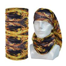 Multifunctional Cheap Custom Logo Microfiber Cravat Collar Shawl Cycling Tube Magic Scarf Fabric Polyester Tubular Bandana