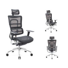 UK Office Seating Big and Tall Executive Office Chair Mesh for CEO Office Ergonomic Chair 24hours long time sitting