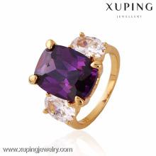 11243 xuping mode doigt 18k or désherbage anneaux avec de la pierre
