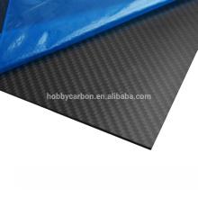 Fibra do carbono 400x500mm, folhas da fibra do carbono do Weave de sarja de 2mm 3k para zangões