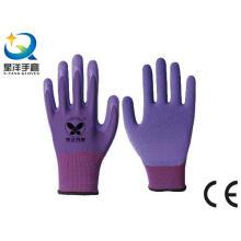 13G Polyester Shell Latex Foam Coated Work Gloves