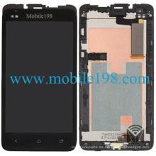 para HTC One Sc T528d Pantalla LCD y pantalla táctil digitalizadora con carcasa frontal