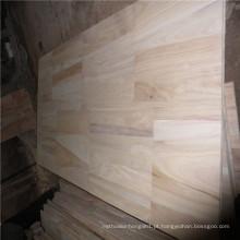 Paulownia Finger Joint Board ou madeira serrada usada para móveis e decoração