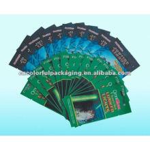 Bolsos impresos coloreados de encargo del papel de aluminio de la cerradura de la cremallera, bolsos ziplock con la cerradura
