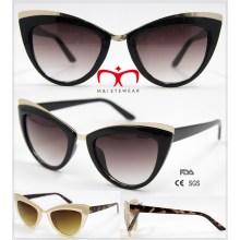 2016 Gafas de sol de moda de la forma del ojo de gato para las señoras (WSP601528)