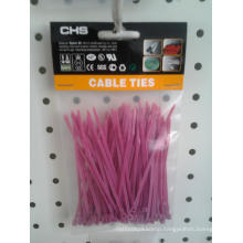 Pink Cable Ties Packed in Poly Bag of 100 Piece
