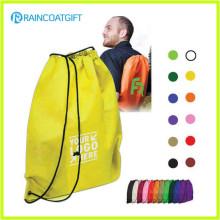 Eco-Friendly Folding Reusable Nylon Drawstring Bag Drawstring Backpack