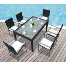 Muebles de comedor al aire libre jardín en ratán