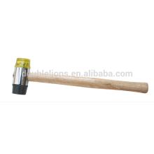 Rosto suave PU martelo com cabo de madeira
