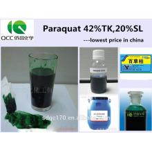 Поставка гербицида Paraquat 42% TC 20% SL с хорошей ценой Номер CAS: 1910-42-5