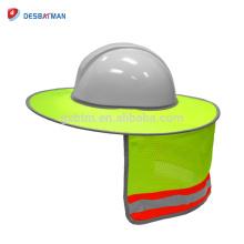 2018 Mejor proveedor Hi Vis Lime Full Brim Sun Shade Neck Shield Equipo de protección facial reflectante para todos los sombreros duros de seguridad NUEVO