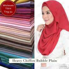 maravillosa tela se siente y se ve como la bufanda de seda del mantón musulmán plian impreso dubai hijab