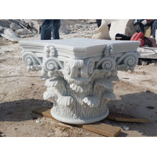 Corinthian White Marble Column Cap For Sale