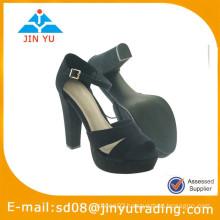 2015 new stylish women black lace high heel shoe
