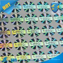 Número de série número de segurança holograma holográfico adesivo