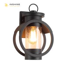 Lámpara de pared LED negra para exteriores