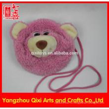 Лучшее качество плюшевый мишка плюшевые розовый медведь голову мешок детей мешок для детей