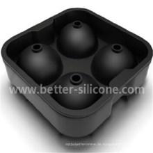 Kundenspezifischer 4 Quadrat Cocktail Silikonkautschuk-Eisball