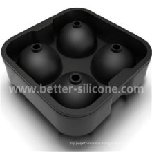 Customied 4 Square Cocktail Silicon Rubber Ice Ball