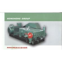 Single cylinder reciprocating high pressure pump