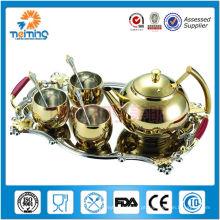 copo e potenciômetro de aço inoxidável não elétricos do chá 8pcs